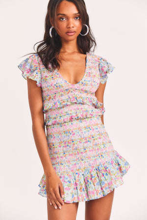 LoveShackFancy Sonora Dress Coral Reef