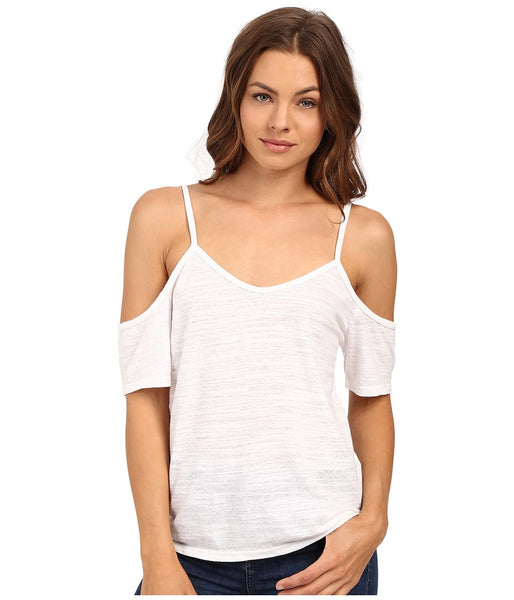 LNA - Off Shoulder Tee White