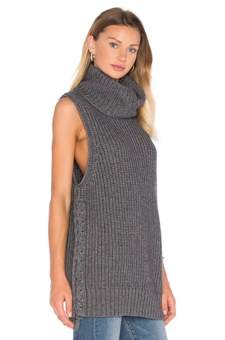 Autumn Cashmere - Laceup Turtleneck Gilet