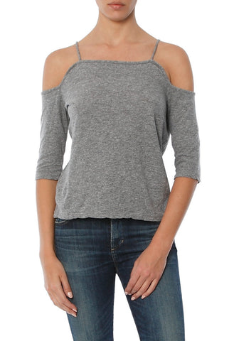 Monrow - Off Shoulder Grey