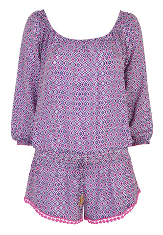 Paloma Blue - Hamptons Playsuit
