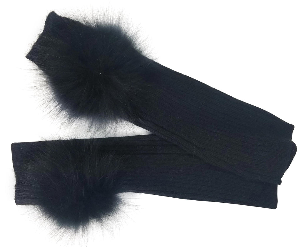 Hat Attack Cashmere Armwarmer with Fur