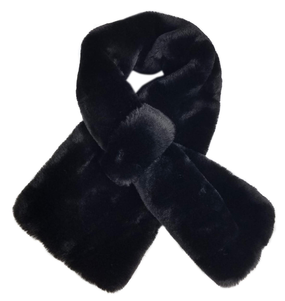 Hat Attack Faux Fur Pull Thru Black