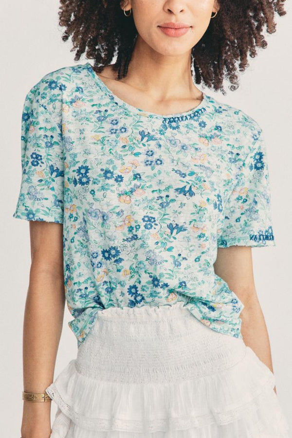 LoveShackFancy Calix Tee Frosted Jade