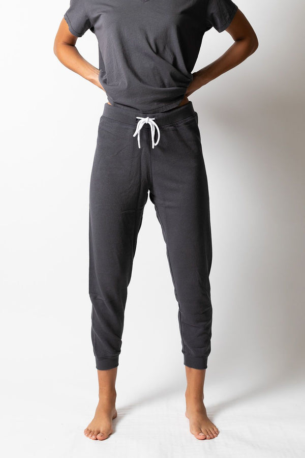 Leallo Dune Solid Sweatpant Charocal