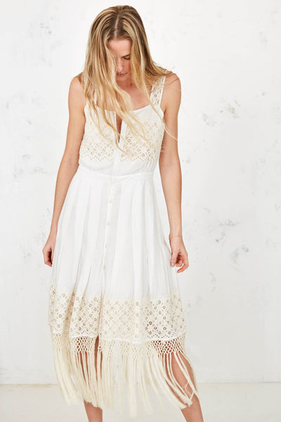 Love Shack Fancy- Eve Dress with Fringe