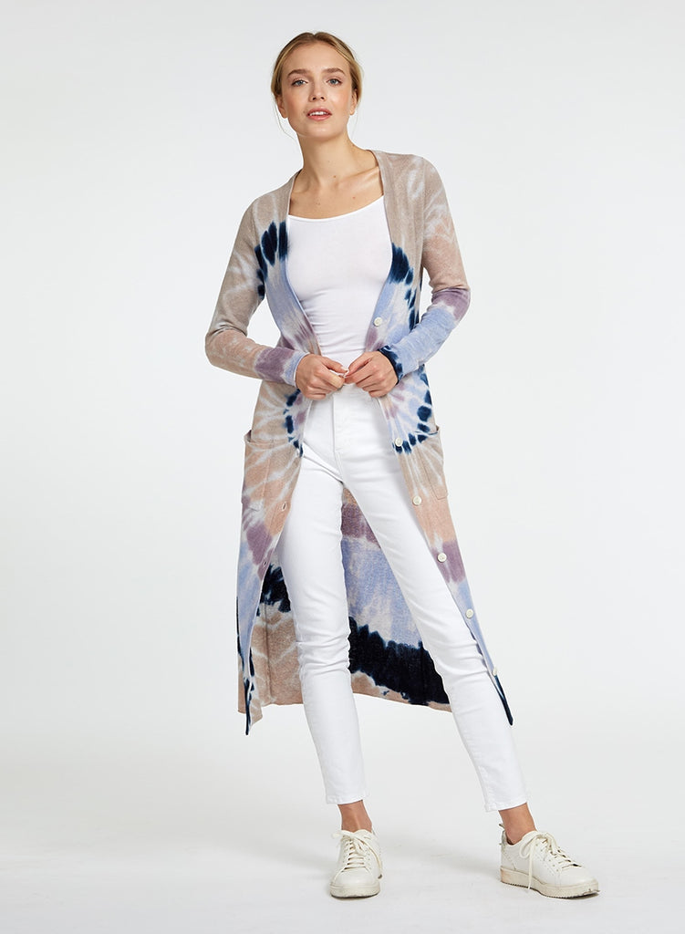 Autumn Cashmere Tie Dye Long Cardigan