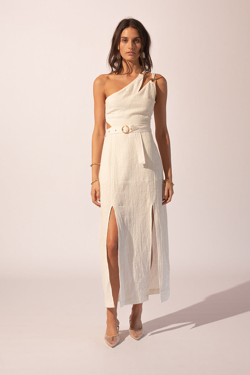 Suboo Kaia Bamboo Ring Asymmetrical Dress