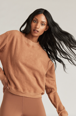 Strut This Georgie Sweatshirt Toffee