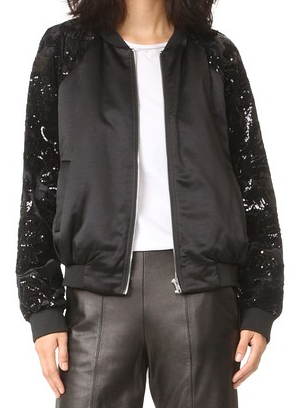 Endless Rose - Velvet Sequin Bomber