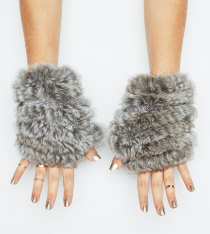 Jocelyn - Fingerless Rabbit Gloves