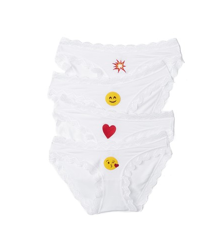 Cheekfrills- Emoji Four Knicker Set