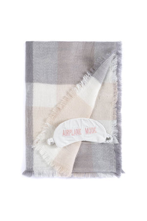 Shiraleah Airplane Mode Blanket & Eye Mask