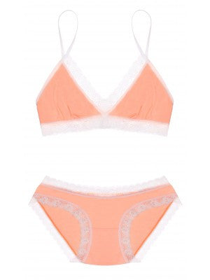 Cheekfrills- Bralet and Knicker Orange