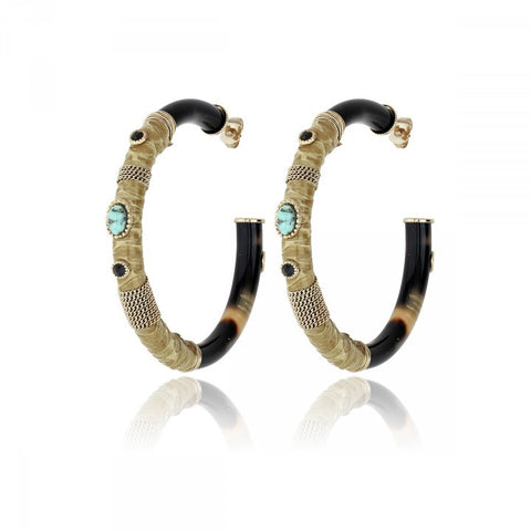 Gas Bijoux - COMPORTA Earring Black
