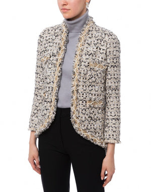 Edward Achour Paris Pearl Tweed Jacket
