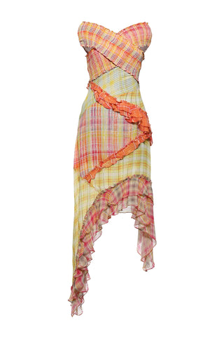 Hemant and Nadtia- Plaid Long Dress