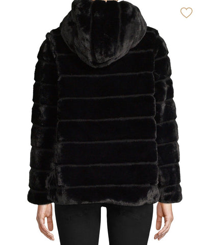 Apparis - Goldie Black Faux Fur
