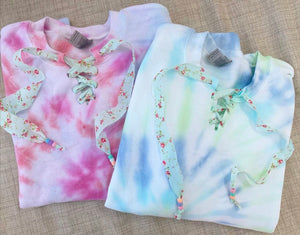 Tie Dye Lace up sweatshirt