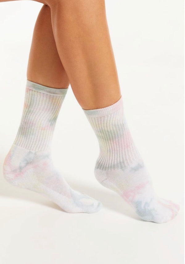 Z SUPPLY Multicolor tie dye socks