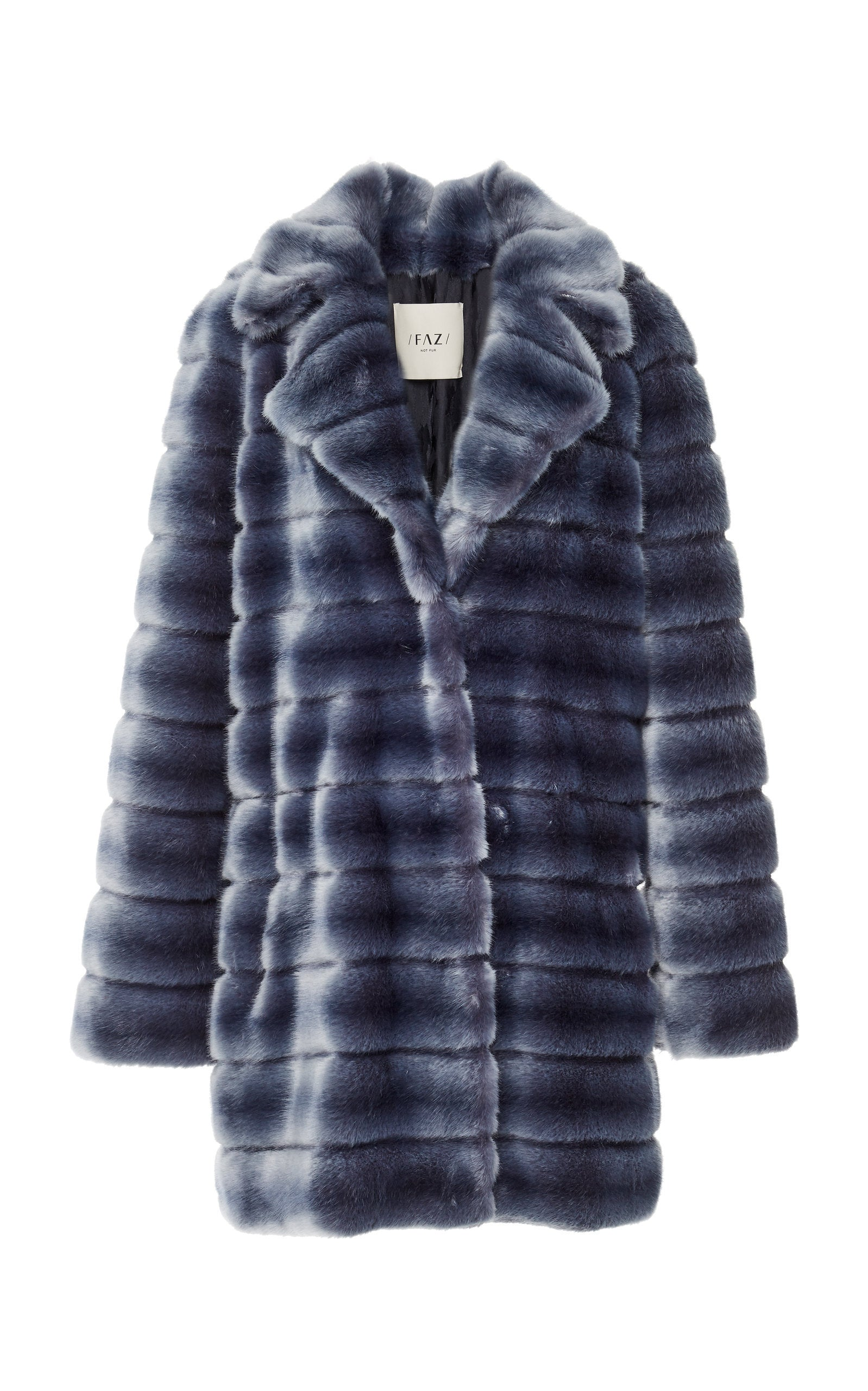Faz Not Fur Oh my Deer Faux Fur Coat Denim