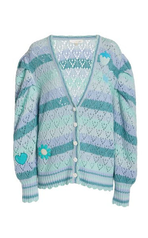 LoveShackFancy Brody Oversized Knit Cardigan