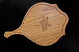 Hand Mirror with Rose detail in Oak