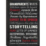 Mini Prints Chalk Art - Grandparents' Rules