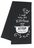 Kitchen Humor Towel - I Could Keep This Kitchen Clean