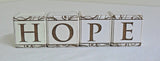 Wooden 4-Letter Blocks - HOPE