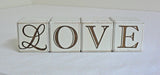 Wooden Four Letter Blocks - LOVE