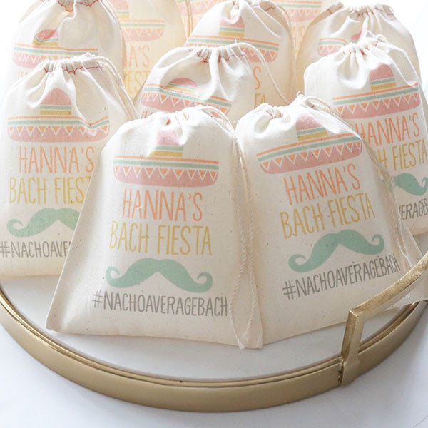 Bach Fest Sombrero and Mustache Muslin Bags