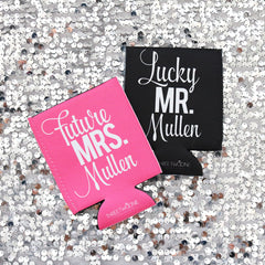 Koozie - Future Mrs. CUSTOM NAME Can or Bottle Insulator