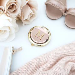 Jewel Compact Mirror - Letter