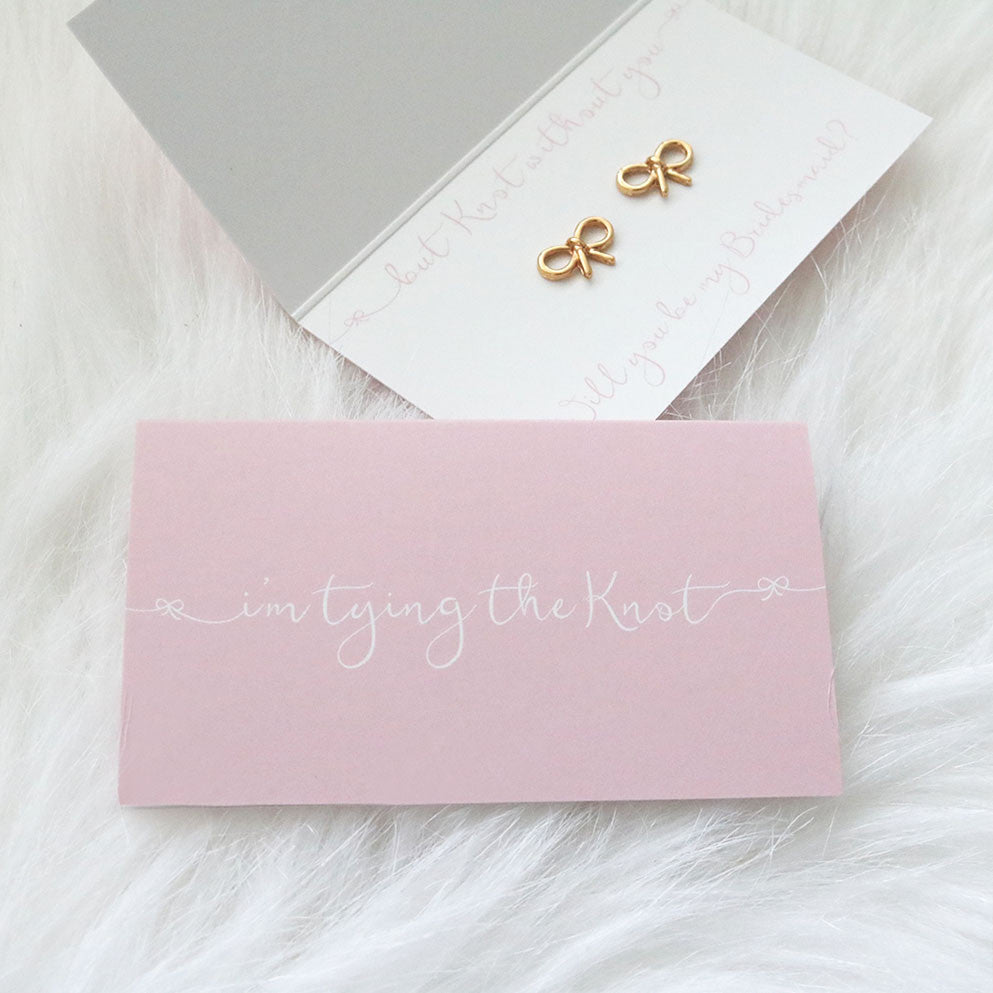 Earrings - I\'m Tying the Knot Bridal Party Earrings – Three Two One ...