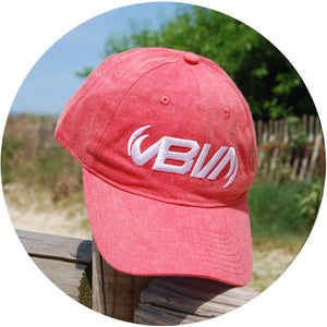 vintage washed red twill hat