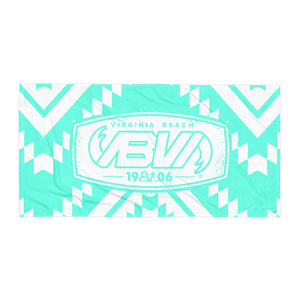 Boho Seafoam Beach Towel