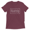 Waveline Block Maroon Short Sleeve T-Shirt