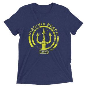 NAVY TRIDENT SHORT SLEEVE TRI-BLEND T-SHIRT