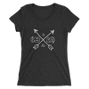 Ladies' Arrow Short Sleeve Black Tri-blend T-shirt