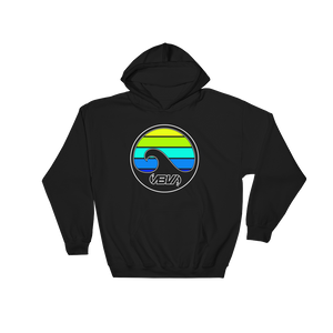 Layered Waves Hooded Sweatshirt