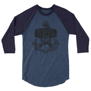 Men's Anchor Badge 3/4 sleeve raglan