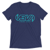 Navy Waveline short sleeve tri-blend t-shirt