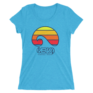 Ladies' Layered Waves short sleeve tri-blend t-shirt
