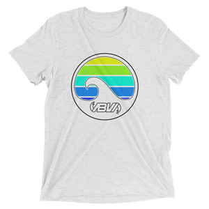 Layered Waves Short Sleeve Tri-blend T-shirt