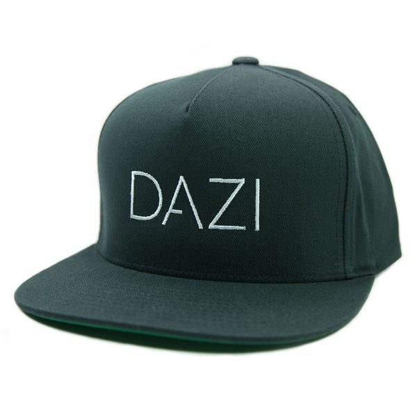 DAZI Embroidered Snapback Hat - Black
