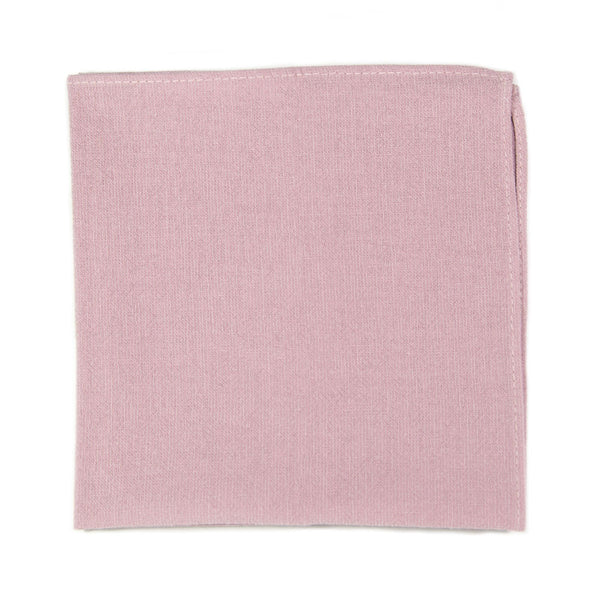 Blush Pocket Square. Solid blush pink textured fabric.