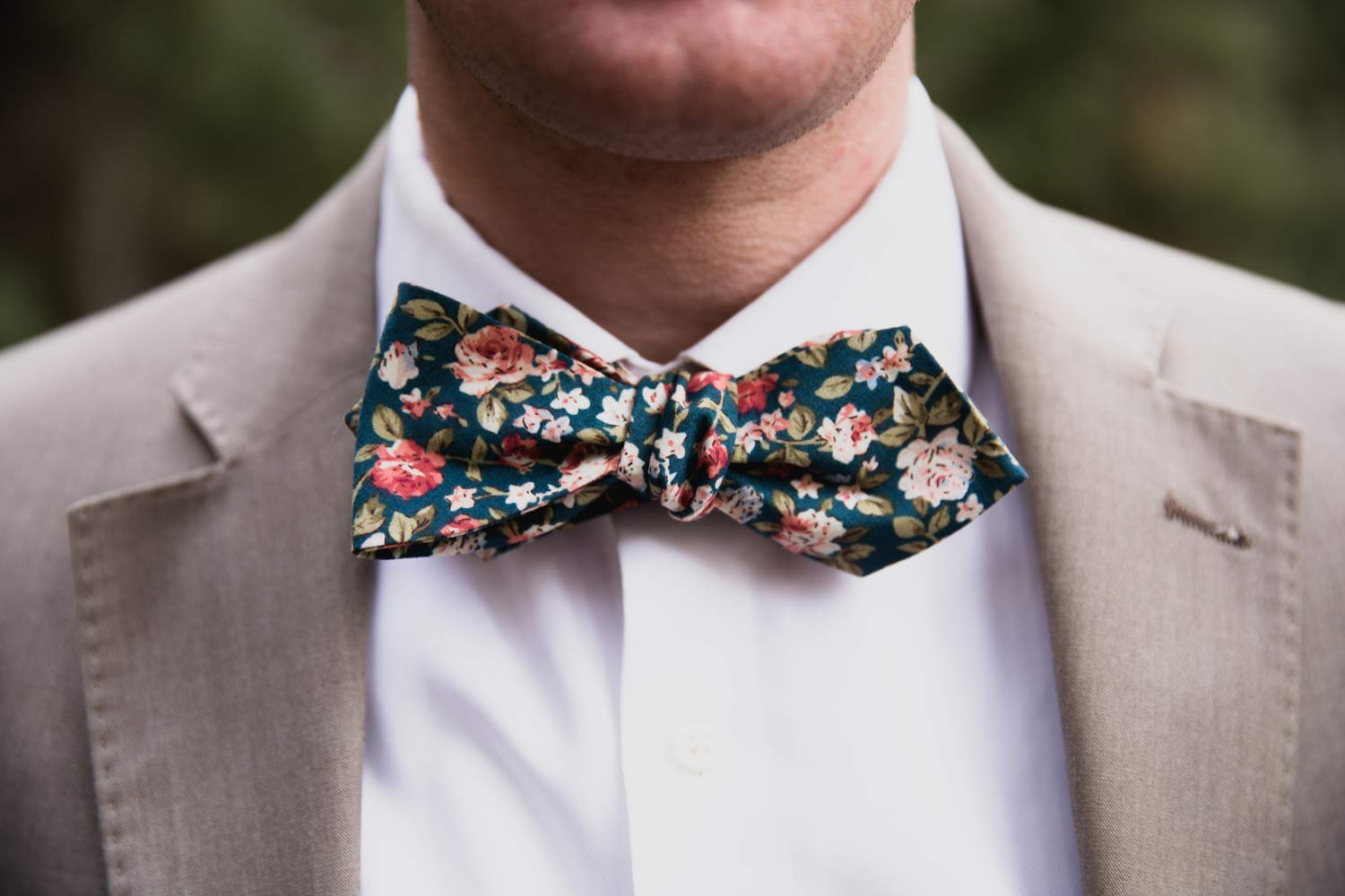 Green Floral bow