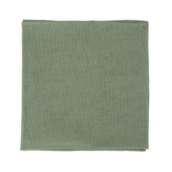 Sage Pocket Square. Solid sage green textured fabric.