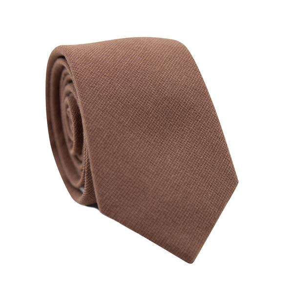 Sangria Skinny Tie. Solid textured fabric.